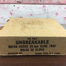 80 Slide Vintage Universal Tray Kodak Blk Projectors  Extra Unbreakable 35mm