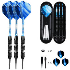 20g Professional Soft Tip Darts Set Case Aluminum Shafts 30Tip 50 O-rings 6F