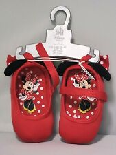 Disney Store Minnie Mouse Red Baby Costume Shoes w/ 3D Ears 0 -6 Months