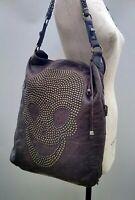 Thomas Wylde Leather Handbag Skull Shoulder Bag Stud Tote Shopper Brown Slouch
