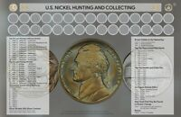"""U.S.Nickel Hunting and Collecting  11"""" x 17"""" Coin Roll Sorting Mat New"""