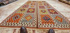 Exquisite Vintage 1950-1960s Natural Dye Nagorno-Karabakh Wool Cicim Rug 5x8ft