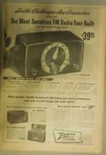 Zenith Radio Ad: The Most Sensitive Fm Radio Ever Built! from 1949