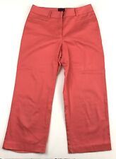 212 Collection Womens Size 2 Natural Fit Coral Cotton Blend Capri Pants