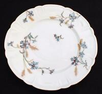 "Antique Signed HAVILAND LIMOGES France BLUE CORNFLOWERS 7 1/2"" Salad Plate Crack"