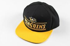New CCM Pittsburgh Penguins NHL Hockey Spell Out Snapback Hat Cap Black Yellow