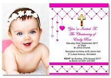 Personalised Baby Photo Christening Baptism Invitation - You Print