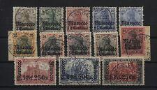 Deutsche Post in Marokko 34-45 überkomplett gestempelt, 5 Werte geprüft (B05522)
