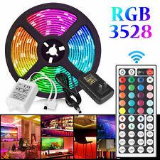 300 LED Strip Light SMD 3528 5050 Flexible Ribbon RGB Stripe 5M Kit Waterproof