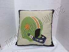 "Pottery Barn Kids PBK Dorm NFL Football Helmet bed Throw Pillow w insert 20"" NEW"