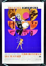 BARBARELLA ✯ CineMasterpieces RARE ORIGINAL PSYCHEDELIC 60'S MOVIE POSTER 1968
