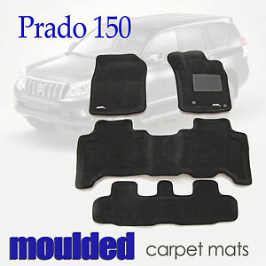 Suits Toyota Land Cruiser Prado 150 2009 - 2012 3D Black Carpet Car Floor Mats