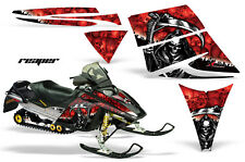 Snowmobile Graphics Kit Decal Sticker Wrap For Ski Doo Rev 2003-2009 REAPER RED