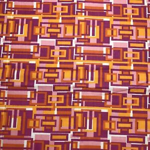 Fat Eighth Reprodepot Pink Orange Yellow Geometric Cotton Fabric