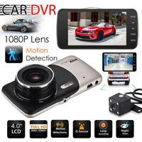 Dual Lens Camera HD Car DVR Dash Cam Video Recorder G-Sensor Night Vision US