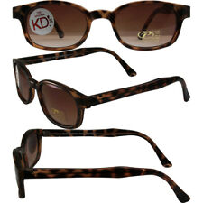 KD Original KD's Dark Tortoise Amber Polarized Motorcycle Sunglasses With Pouch