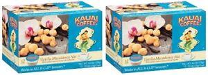 Kauai Coffee Vanilla Macadamia Nut Keurig K-Cups 2 Box Pack