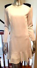 NEW Sandro White Black shoulder Dress US 1 XS $ 420