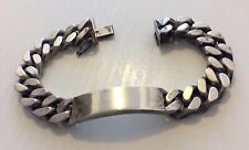 Superb Gents Very Heavy Named Uno A Erre Vintage Identity Bracelet Really Heavy