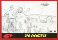 2017 TOPPS MARS ATTACKS RED #/99 UFO SIGHTINGS #P-9