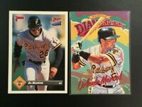 1993 Donruss #DK19 #716 AL MARTIN Rated Rookie & ORLANDO MERCED DK Pirates Lot 2