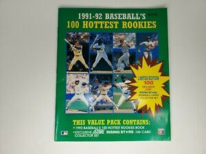 MLB Baseball 1991-1992 - 100 Hottest Rookies - Book Only - Vintage Collectible