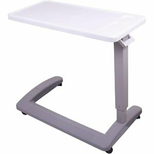 Medical Table Overbed Adjustable Bedside Hospital Rolling Tables With Wheels New