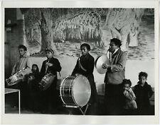 Original Alfred / Betty Statler Large Original Candid Photograph Drum Line Band