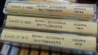 Benny Goodman Rhythmakers CASSETTE TAPE LOT SET 1-3 AJAX AJAZZ RARE RECORDINGS