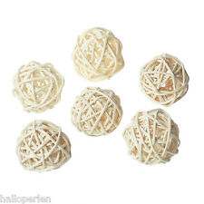 New Christmas Rattan Ball Home Decoration DIY Craft Off-white 30mm 10PCs
