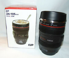 New Camera Lens Stainless Steel Cup Travel Mug 11-12oz Caniam Ultrasonic NIB