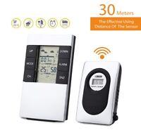 Digital Wireless Temperature Weather Station Indoor Outdoor Home Humidity Alarm