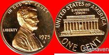 1975 S Lincoln Cent Cameo Gem Proof No Reserve