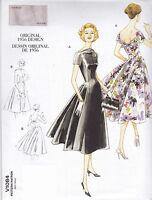 Vogue Vintage Original 1956 Design Dress Sewing pattern from UK V1084