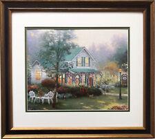 "Thomas Kinkade ""Village Inn"" Newly Custom Framed Art Print"