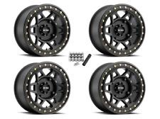 "Method 405 Beadlock ATV 15"" Wheels Rims Black 15x7 4+3 Polaris Sportsman/Ranger"
