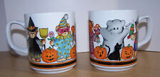 2 Vintage 1984 Halloween Bears Costume Mugs Lucy & Me Enesco
