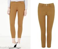 WAREHOUSE MUSTARD COLOUR SUPER SKINNY CROPPED JEANS  SIZES 8 to 18 Retail £39.00