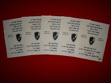 Vietnam War 5 VC Propaganda Leaflets Against US Army SECURITY AGENCY *Unused*