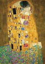 Gustav Klimt - The Kiss - A2 size QUALITY Canvas Print Poster 42x59.4cm Unframed