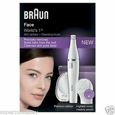 BRAUN FACE SE830 PREMIUM EDITION - FACIAL EPILATOR & FACIAL CLEANSING BRUSH