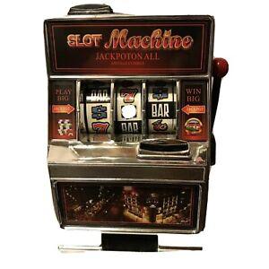Saddlebred GAMETIME Slot Machine BANK novelty fun tabletop