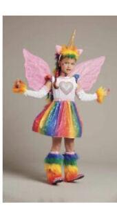Chasing Fireflies Pegasus Unicorn Costume And Wings Pink Set EUC Girls Size 6