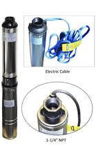 """Deep Well Submersible Pump MA0460X-9A-DO, 230V, 3.5"""", 220ft Max, 9 Stages, 1hp"""
