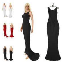 Cotton Blend Formal Solid Maxi Dresses for Women