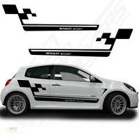 Fits Renault Megane Clio Sports Full Kit Racing Side Stripes Car Stickers