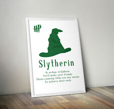 Harry potter print, poster, slytherin, quote, wall art, gift, party, Hogwarts
