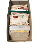 Large Lot of Vintage Handwritten & Clipped Recipes 250+ in Shoebox