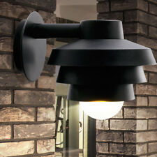 Fachadas Luz Exterior Iluminación de Pared Luz de Porche Down Foco Negro