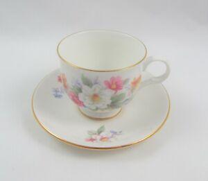 Sadler Wellington Pink Roses and Flowers Tea Cup and Saucer Set Fine China England